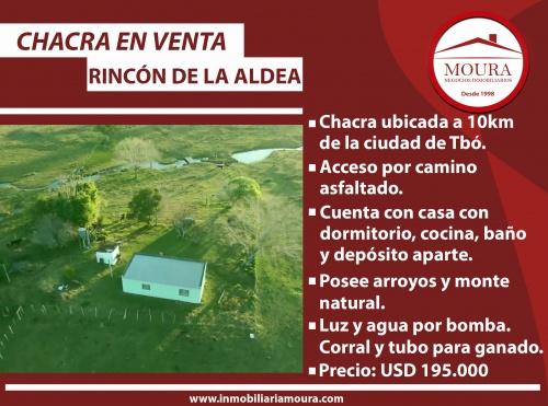 Campos y Chacras en Venta en RINCON DE LA ALDEA, RincÓn De La Aldea, Tacuarembó