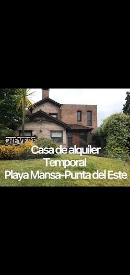 Casa en Alquiler Turistico en Pinares, Punta del Este, Maldonado