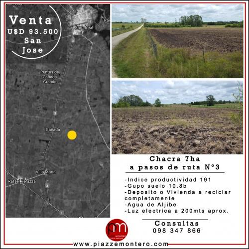 Campo / Chacra en Venta en Villa Maria, San José