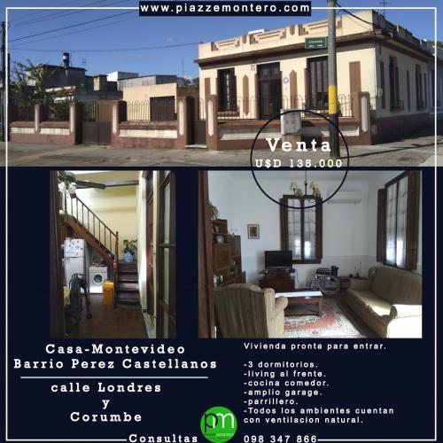 Casas en Venta en Pérez Castellanos, Montevideo