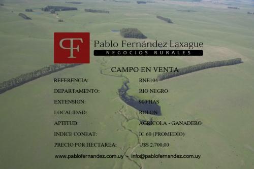 Campo / Chacra en Venta en Rolón, Río Negro