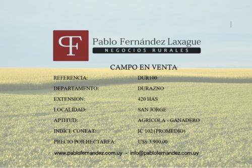 Campo / Chacra en Venta en San Jorge, Durazno