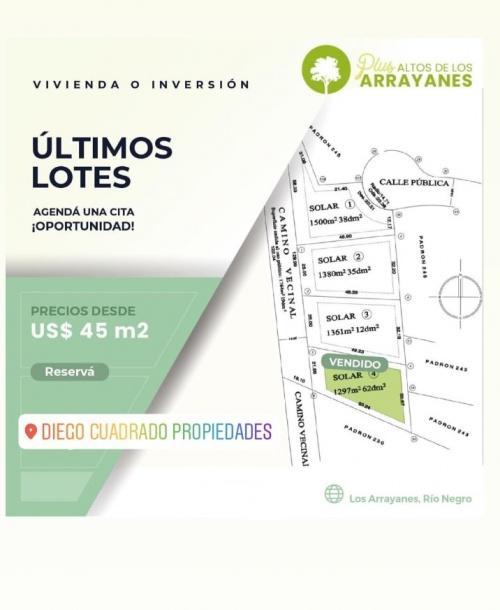 TERRENOS en Venta en Plus Alto de los Arrayanes, Los Arrayanes, Soriano